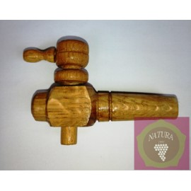 Wooden tap for oak barrel