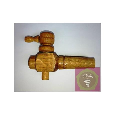 Wooden tap for oak barrel