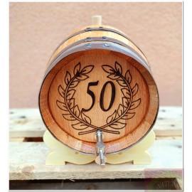 Anniversary (30, 40, 50, 60, ...) French oak barrels for brandy