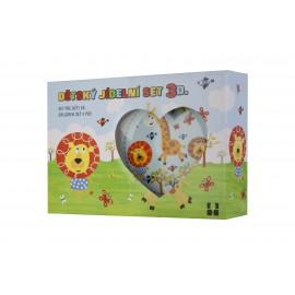 Mess kit for children from porcelain (3 pcs)