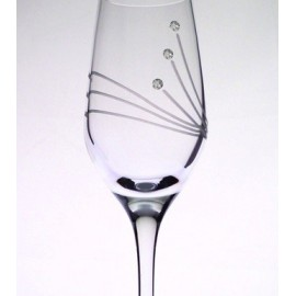 Glass with Swarovski crystals 95 ml (6 pcs)