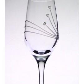 Glass with Swarovski crystals 95 ml (6 pcs)