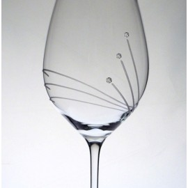 Glass with Swarovski crystals 470 ml (6 pcs)
