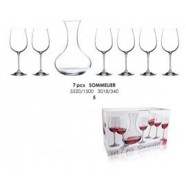 Sommelier boros készlet (6 + 1 db)