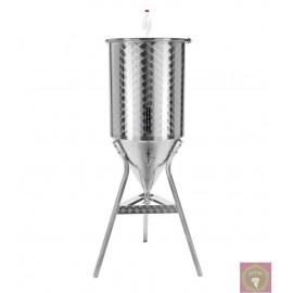 Rozsdamentes erjesztő acéltartály sörfőzésfhez (55 l)